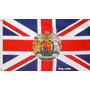 Bandera Reino Unido Uk Con Escudo Regalo 150cm X 90cm