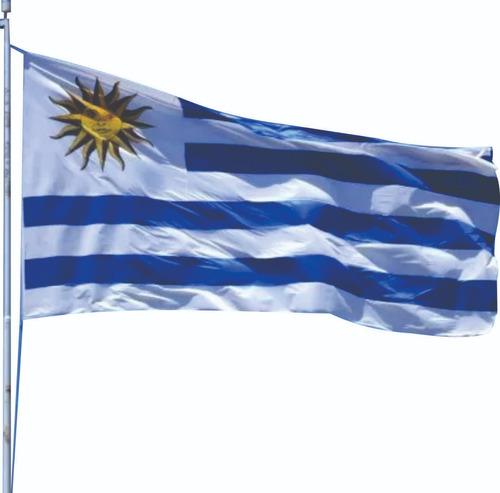 banderas de uruguay x 6 unidades (150 x 90 cm) rusia 2018