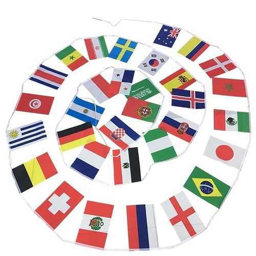 banderas del mundial 34 banderines 2018 decoracion negocios