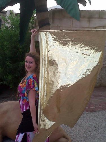banderas flags metalizadas elementos danza arabe belly dance
