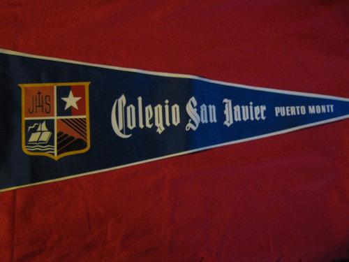 banderín antiguo colegio san javier - puerto montt