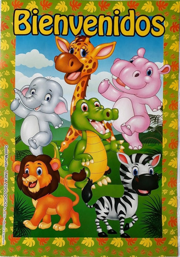 banderín banderines animalitos animales selva mundomatok