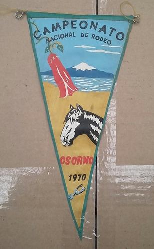 banderin campeonato nacional de rodeo osorno año 1970