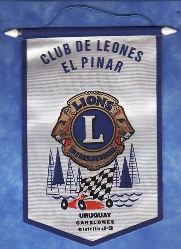 banderin - club de leones - distrito j.3 uruguay canelones