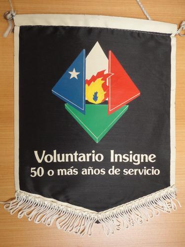 banderín cuerpo de bomberos voluntario insigne 50 años