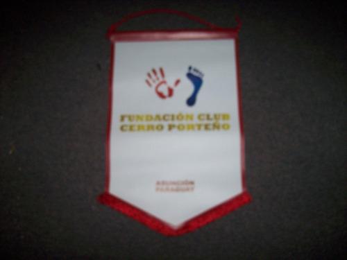 banderin de cerro porteño paraguay fundacion  - no envio
