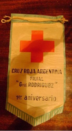 banderin de la cruz roja argentina