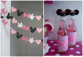 Banderin Decoracion Fiesta Infantil Minnie Mickey Mouse
