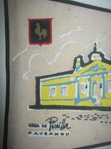 banderin del centenario jefatura policia paysandu 1860-1960