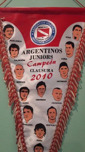 banderín del club argentino juniors campeón clausura 2010