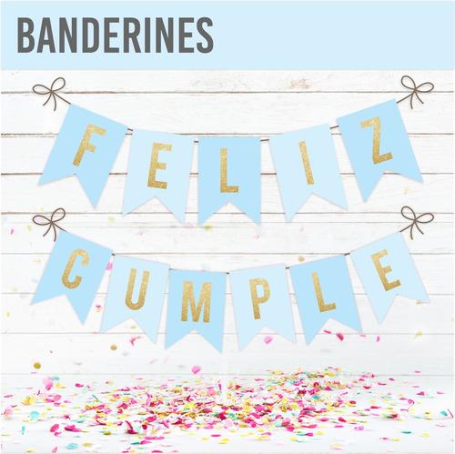 banderin feliz cumple | happy birthday - caba