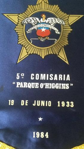 banderin investigaciones de chile parque ohiggins 1984