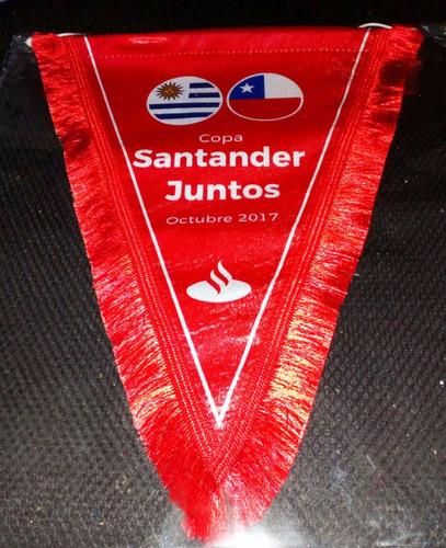 banderin personalizad 20x30 cm con fleco tela mate