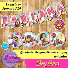 Decoración Pastel Soy Luna Banderines En Mercado Libre México