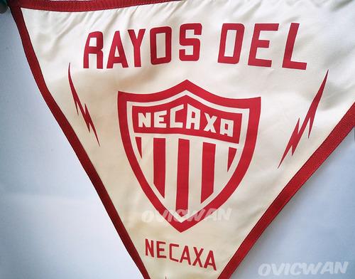 banderín vintage de los rayos del necaxa futbol fut21