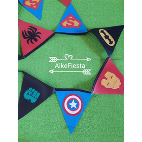 Banderines (pack X 2)  Pj Mask-batman-superheróes-spiderman