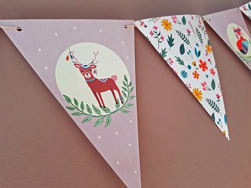 banderines animalitos del bosque