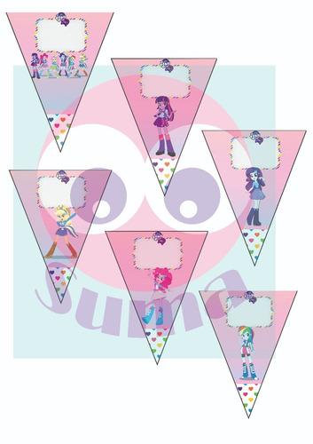 banderines candy bar- lady bug . barbie. equestria nuevo
