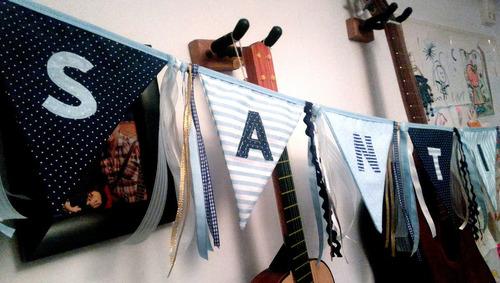 banderines con letras & cintas