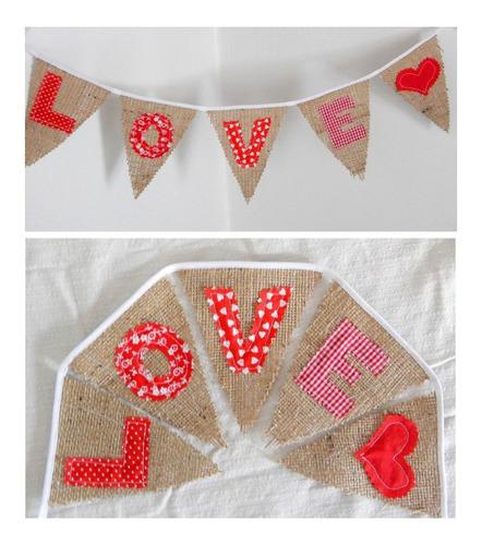 banderines de arpillera con nombres. precio x 5 letras
