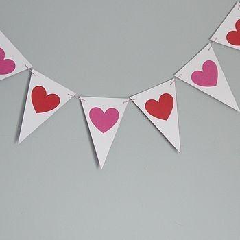 Banderines De Corazones Decoracion San Valentin Bs 200 En - Corazones-de-decoracion