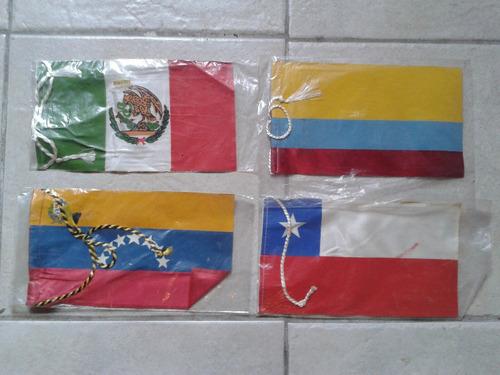 banderines de paises antiguo colombia mexico chile venezuela
