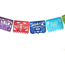Banderines De Tela Mexicanos Calados Banderin Exterior Deco