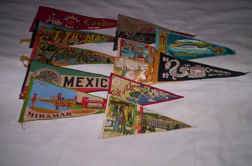 banderines de viajeros buen lote coleccionables.buen estado.
