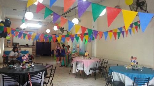 banderines en friselina varios colores lisos $12 el metro!!!
