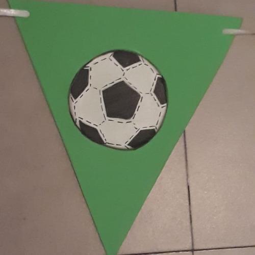 banderines futbol pelota deco