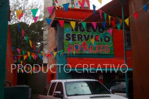 banderines grandes para decoración, cumpleaños, 25 metros !!