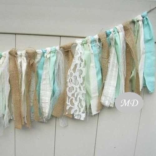 banderines guirnaldas de tela linea vintage shabby chic !!!