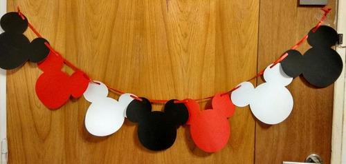 banderines guirnaldas mickey minnie cumpleaños