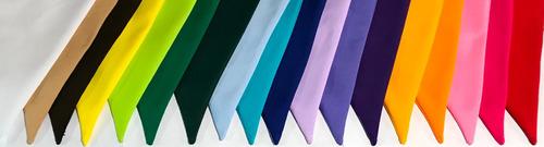 banderines lisos de tela $1500 x mt colores a su elección