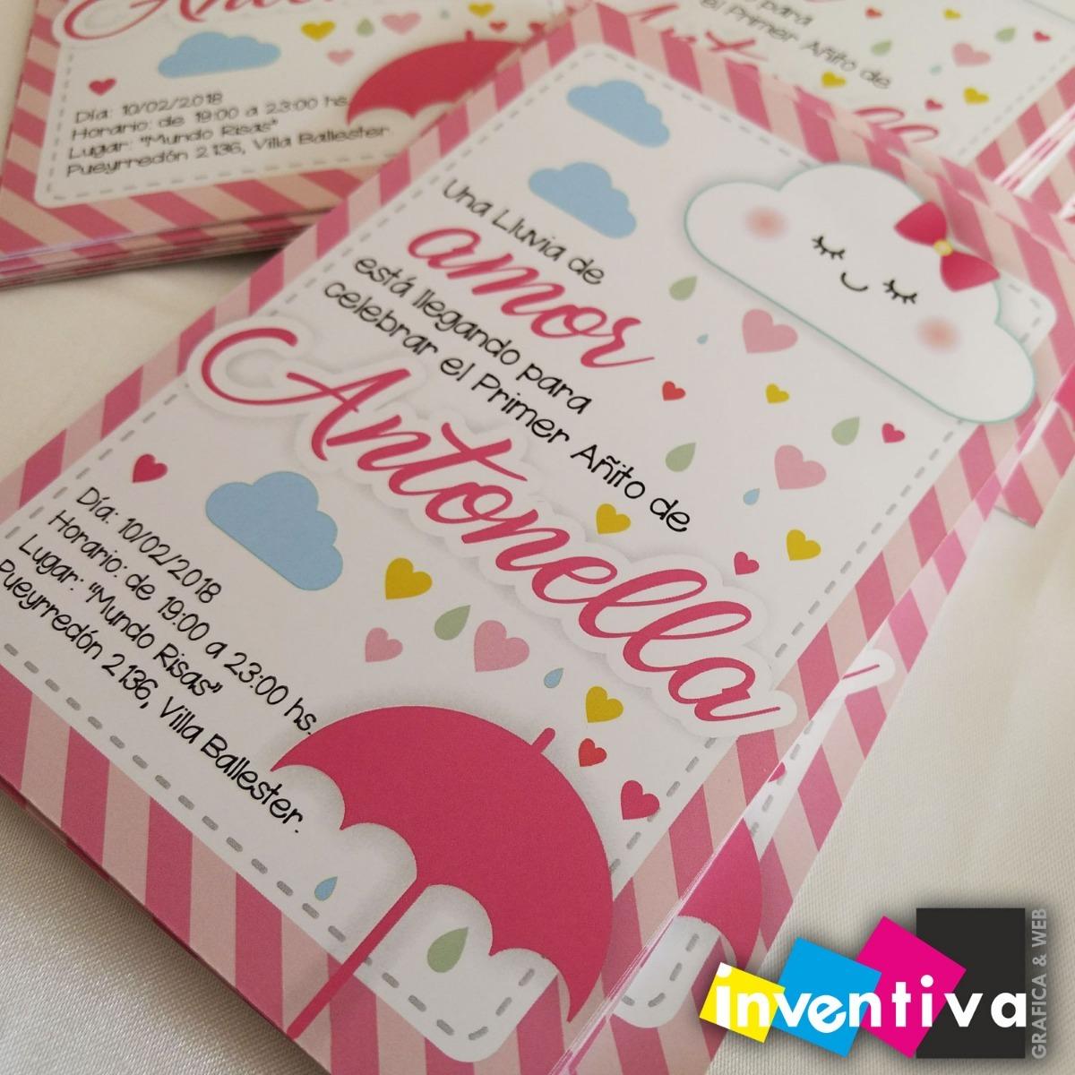 Banderines Lluvia De Amor Personalizados Cumpleaños X6un