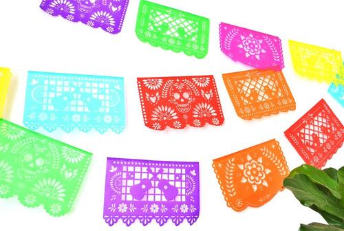 banderines mexicanos decoración eventos papel picado 5 mts