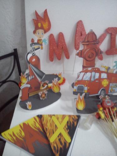 banderines personalizado de bombero