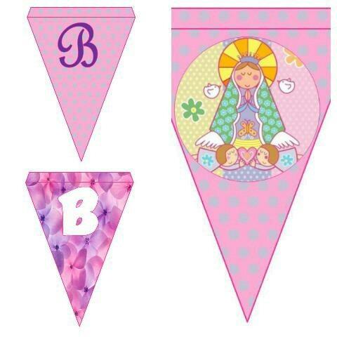 banderines princesas comunion bautismo