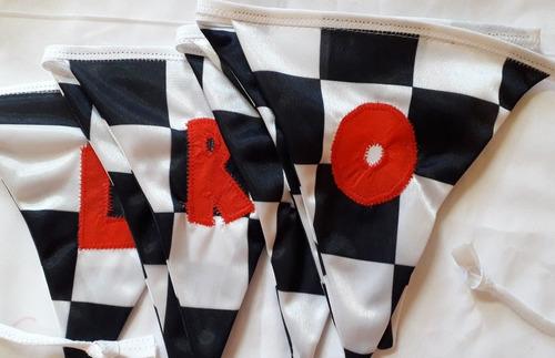 banderines rally, largada, carreras autos. precio x letra