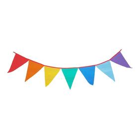 Banderines Tela Friselina 80gr X10metros Multicolor/arcoíris