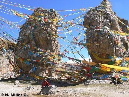 banderines tibetanos bandera de oracion budista efectivo