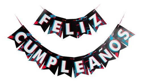 banderines tik tok feliz cumpleaños - ciudad cotillón
