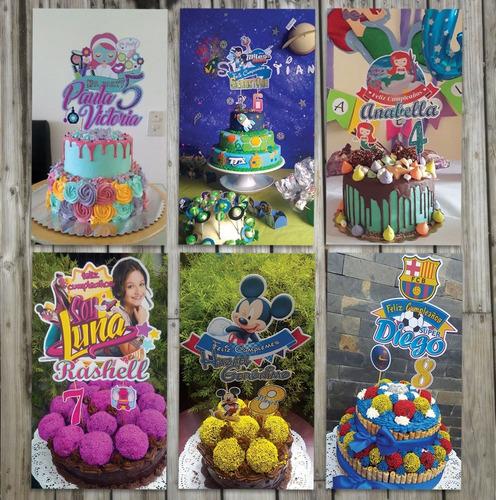 banderines torta toda ocasion personalizados cake toppers