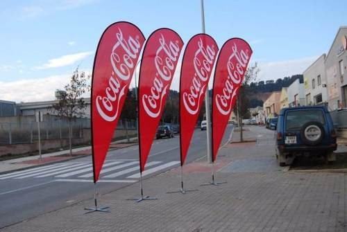 banderolas publicitarias, gota, veleta, flayer, banner,