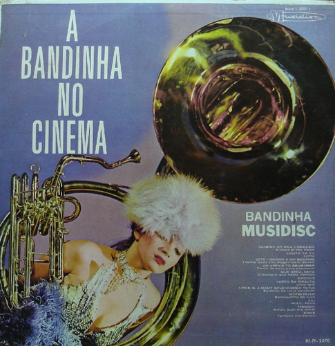 bandinha musidisc a bandinha no cinema - lp musidisc raro