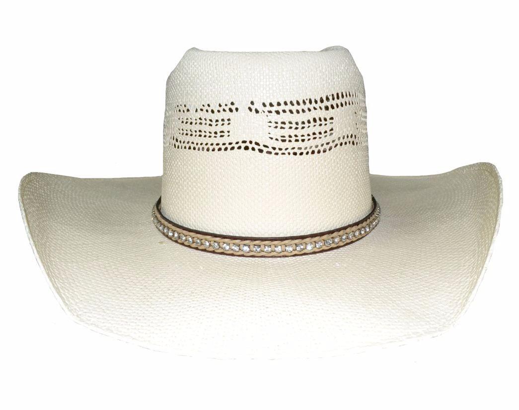bandinha para chapéu trança dupla couro strass pyramid b09. Carregando zoom. fc8be26a139