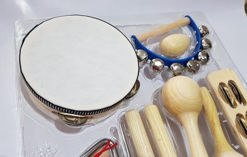 bandinha ritmica turbinho br-7 kit 8 instrumentos variados
