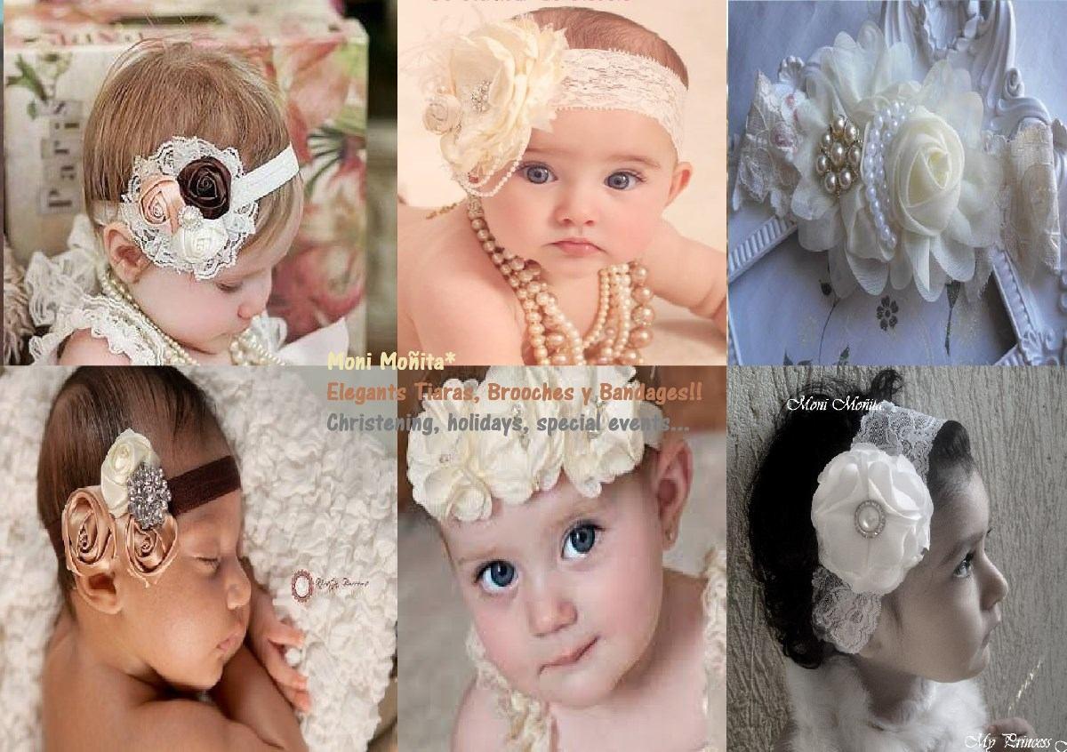 banditas tiaras exclusivas bautizo fiesta boda niña bebe
