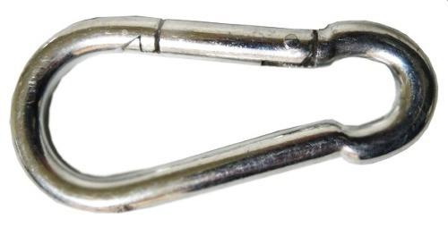 bandola acero forma de 8  10 cm con 25 piezas snap hook obi
