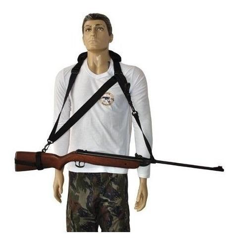 bandoleira com proteção ombro 3 pontas militar airsoft